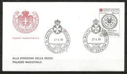 1988 ORDINE DI MALTA SMOM  Comore  PA FDC  Viaggiata Bellissima - Malte (Ordre De)