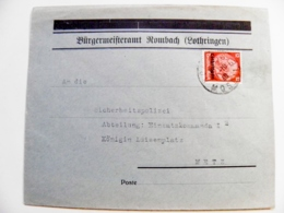 Cover Deutches Reich Lothringen 1940 Moselle - Lettres & Documents