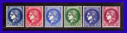 1938 - 1940 - Francia - Sc. 335 - 340 - Ceres - MNH - FR- 080 - Nuevos
