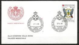 1988 ORDINE DI MALTA SMOM  S.Tome' E Principe  FDC  Viaggiata Bellissima - Malte (Ordre De)