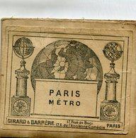 PARIS(PLAN DE METRO) - Europe