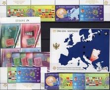 50 Jahre CEPT 2006 CRNA GORA 108/1 A,VB+Block 3,Bosna 419/2,ER+ZD ** 112€ Karte Ss Maps Blocs Flag Sheets Bf EUROPA - Montenegro