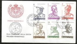 1989 ORDINE DI MALTA SMOM  Personaggi FDC  Viaggiata Bellissima - Malte (Ordre De)