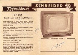 FIDELIO SCHNEIDER(PUBLICITE) TELEVISION(IVRY) - Publicités