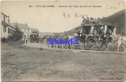 Puy-de-Dome - Arrivée Des Cars Au Col De Ceyssat - 1908 - La Bourboule