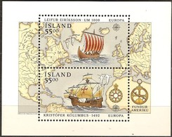 Cept 1992 Islande Iceland Ijsland Yvertn° Bloc 13 *** MNH Cote 13 Euro Europa - 1944-... Republic