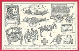 Ambulance Militaire, Guerre De 1870, Larousse 1908 - Old Paper