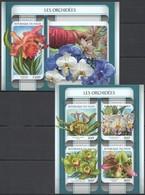 UU777 2017 NIGER FLORA FLOWERS ORCHIDS LES ORCHIDEES KB+BL MNH - Orchids