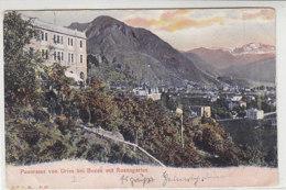 Panorama Vom Gries Bei Bozen Mit Rosengarten 1907 Grosser Schräger Knick - Bolzano (Bozen)