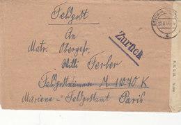 2 X Feldpost 4.5.44 + 22.8.44 M11070 Hafenkommandantur St.Malo / Zum Zeitp. Des 2. Briefes War St.Malo Eingekesselt - Deutschland
