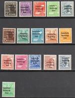 1948 :-: 16 Timbres De 1947 - Zone D'occupation Soviétique En Surcharge -  Neufs** - Série Complète - - Soviet Zone