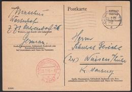 Hamburg-Harburg 1945 Gebühr Bezahlt Auf Postkarte   (20581 - Non Classés