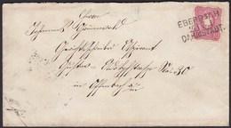 1885 Bahnpost Brief Eberbach - Dahmstadt  Nach Offenbach (20589 - Briefmarken