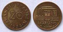 Saar/Saarland 20 Franken Münze 1954   (21982 - Sonstige