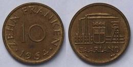Saar/Saarland 10 Franken Münze 1954   (21983 - Germany