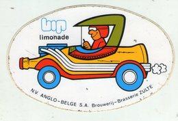 AUTOCOLLANT . STICKER . ZULTE .  LIMONADE  BIP . BROUWERIJ - BRASSERIE . - Stickers