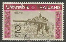 Thailand - 1968 Elephant Carrying Teakwood Used    Sc 497 - Thailand