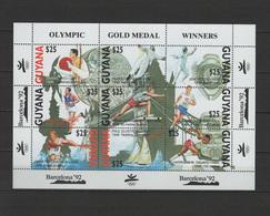 Guyana 1991 Olympic Games Barcelona, Fencing Etc. Sheetlet MNH - Ete 1992: Barcelone