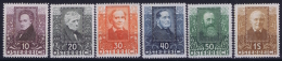 Osterreich Austria: Mi 524 - 529 MH/* Falz/ Charniere  1931 - 1918-1945 1. Republik