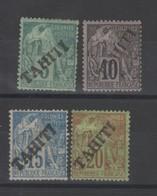 Tahiti_   Surchargé (1893 ) N°10/13 - Tahiti