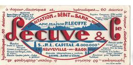 Buvard SCIERIE LECUVE / 88 LA NEUVELLE LES RAON / 60 Scieries - Blotters
