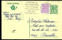 Carte Obl. N° 187   Obl. Ciney  + Flamme Touristiques - Stamped Stationery