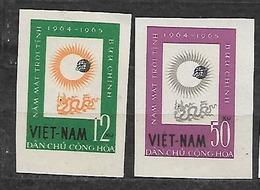 #78# VIETNAM YVERT 358/359, MICHEL 296/297 IMPERFORATED (*) UNUSED, NO GUM AS ISSUED. SPACE. SUN. - Vietnam