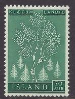 Iceland / Island 1957 - Reforestation, Trees, Plant, Forest MNH - Ungebraucht