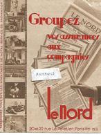 """Buvard Format A4 Journal LE NORD / PARIS / Pub """"Groupez Vos Assurances"""" - Buvards, Protège-cahiers Illustrés"""