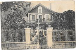 Terrasson - Cpa - Villa Germaine - A. Laudinat Propriétaire - 1907 - Autres Communes