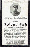 Sterbebild J. FUSS - Pionier Bayer.Minenwerper Komp. Nr. 16 - Gestorven 1918 Bei COLBRAI - Begraven ST. LAURENT BLAGNY - 1914-18