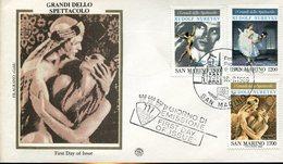 40091 San Marino, Fdc 1989 Rudolf Nureyev, Circuled Cover - Théâtre