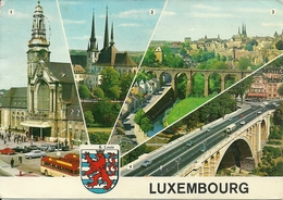Luxembourg (Lussemburgo) Views: Gare Centrale, Cathedrale, Vue Generale, Pont Adolphe - Lussemburgo - Città