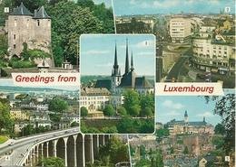 """Luxembourg (Lussemburgo) Views: Les """"Trois Tours"""", Cathedrale, Avenue De La Libertè, La """"Passerelle"""", Ville Haute - Lussemburgo - Città"""