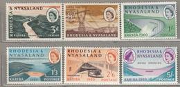 RHODESIA NYASALAND 1960 Mi 34-39 SG 32-37 MNH/MVLH (**/*)  #23455 - Rhodesia & Nyasaland (1954-1963)