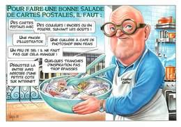 Illustrateurs - IIlustrateur Bernard Veyri - Enghien Les Bains - Gastronomie - Jean Pierre Coffe - Bon état - Veyri, Bernard