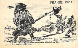 FRANCE ( 1914 ) Déjeuner à La Fourchette à Toute Heure ! Ed. D Régent -Ussel, Corrèze - Humoristiques