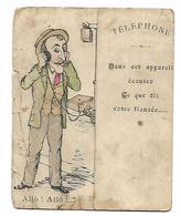 DESSIN CHROMO SYMPA SYSTEME 1er AVRIL ELLE PETE AU TELEPHONE - Old Paper