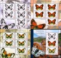 Kyrgyzstan 2018 Insects Butterflies 3 MSs + SS MNH - Schmetterlinge