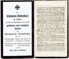 OBERTAUFKIRCHEN - Andenken An Die Im WELTKRIEGE 1914-1918 Gefallenen Und Vermissten - 16 Blz. - 1914-18