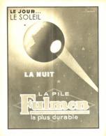 """PUB PILE  """" FULMEN  """"  1937 - Advertising"""