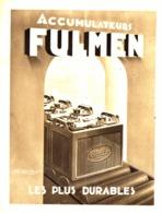 """PUB BATTERIE  """" FULMEN  """"  1937 - Advertising"""