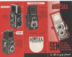 - Dépliant Publicitaire Pour Appareil Photo SEMFLEX - Cameras