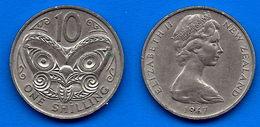 Nouvelle Zelande 10 Cents 1967 Reine Elizabeth 2 New Zealand Shilling Cent Que Prix + Port - Nouvelle-Zélande