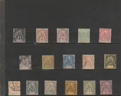 TIMBRES  DU GABON  1904   1907 Oblitérés - Gebraucht