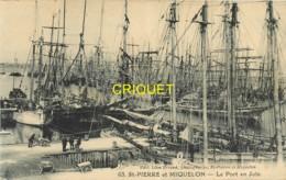 St Pierre Et Miquelon, Le Port En Juin, Belle Carte Pas Courante - Saint-Pierre-et-Miquelon