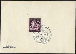 1943 - BOHEMIA & MORAVIA - FDC + Michel 113 + BRÜNN - Bohême & Moravie