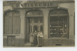 CHALON SUR SAONE - PHOTOS - COMMERCES - Belle Carte Photo Devanture Boutique PATISSERIE Postée à CHALON En 1909 - Chalon Sur Saone