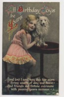 AJ81 Children - Young Girl With A Dog - Birthday Greeting - Children And Family Groups