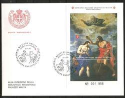 1993 SOVRANO ORDINE DI MALTA SMOM  Foglietto Fdc Viaggiata, Bellissima - Malte (Ordre De)
